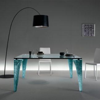 FIAM design glazen eettafel Atlas design by Danny Lane