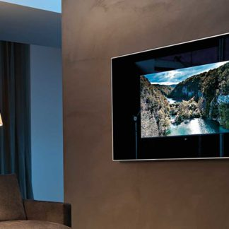 FIAM design spiegel Mirage Tv by Daniel Libeskind