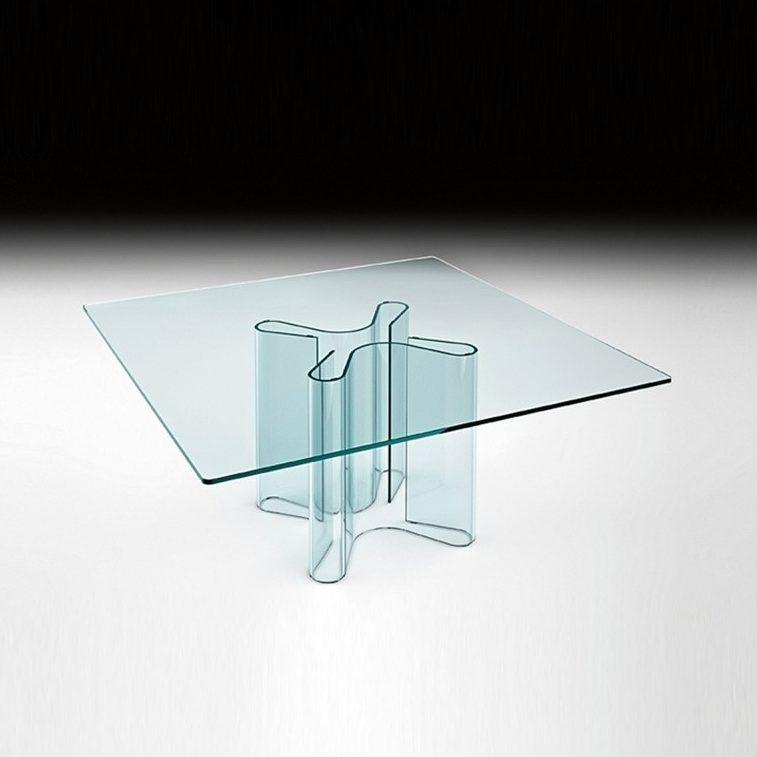 Glazen Eettafels Vierkant.Fiam Glazen Eettafel Sahara Vierkant