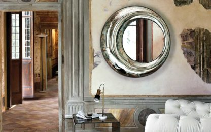 1 FIAM design spiegel Rosy D100 rond design by Doriana E Massimiliano Fuksas
