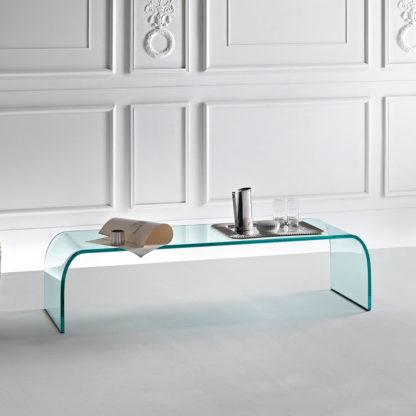 FIAM glazen salontafel Ponte design by Angelo Cortesi