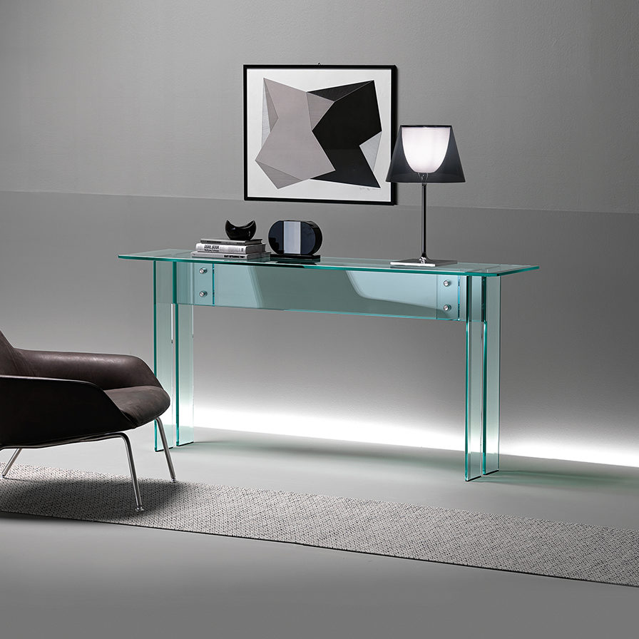 Sidetable Glas Rvs.Fiam Glazen Design Side Table Llt