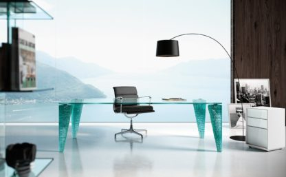 FIAM design glazen eettafel Atlas design by Danny Lane