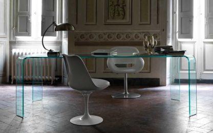 FIAM design glazen eettafel Ragno 228x108xh75 design by Vittorio Livi