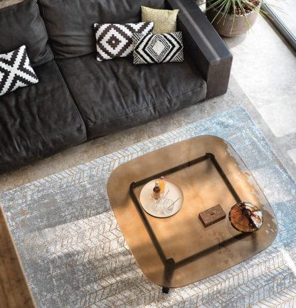 1 fiam design glazen salontafel Magma brons glas met zwart onderstel design by Patrick Jouin (2)