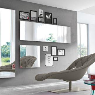 1 fiam design spiegel Mirage 70x70 en 160x50, 200x60 design by Daniel Libeskind