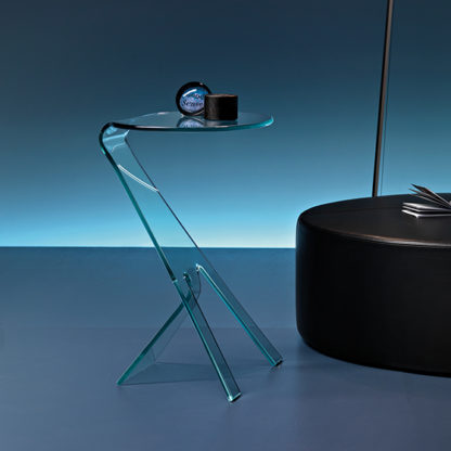 1 fiam glazen bijzettafel Grillo design by Vitorrio Livi technische details