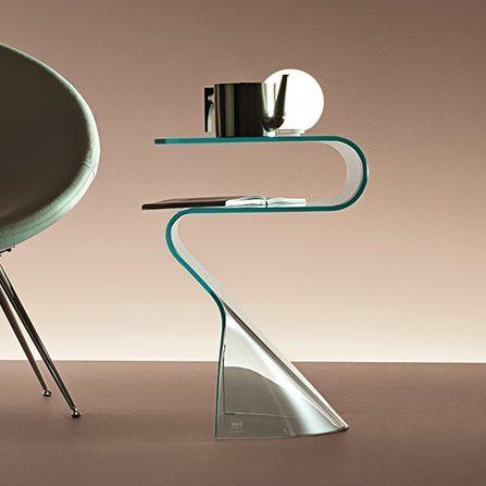 Glazen Bijzettafels Design.Fiam Glazen Design Bijzettafel Toki