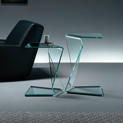 1 fiam glazen bijzettafel Sigmy design by Aquili Alberg