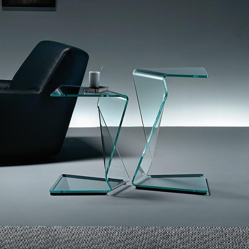 Glazen Bijzettafels Design.Fiam Glazen Design Bijzettafel Sigmy