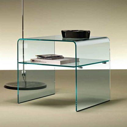 1 fiam glazen bijzettafen nachtkast Rialto Night design by CRS FIAM
