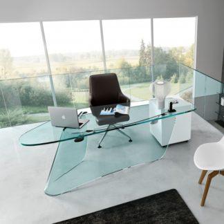 FIAM glazen bureau Graph design by Xavier Lust