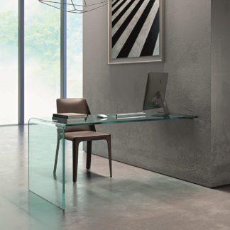 FIAM glazen bureau RIALTO L WALL MOUNTED design by CRS FIAM