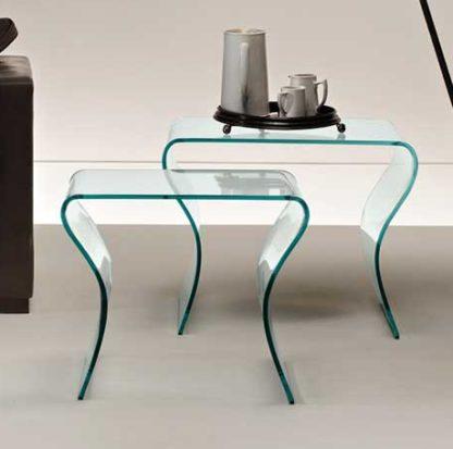1 fiam glazen design bijzettafel charlotte tris design by Prospero Rasulo