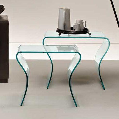 Bijzettafel Vierkant Glas.Fiam Glazen Design Bijzettafel Charlotte Tris