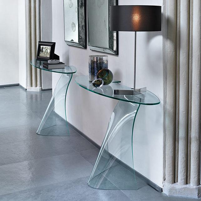 Design Glazen Sidetable.Fiam Glazen Design Side Table Dama