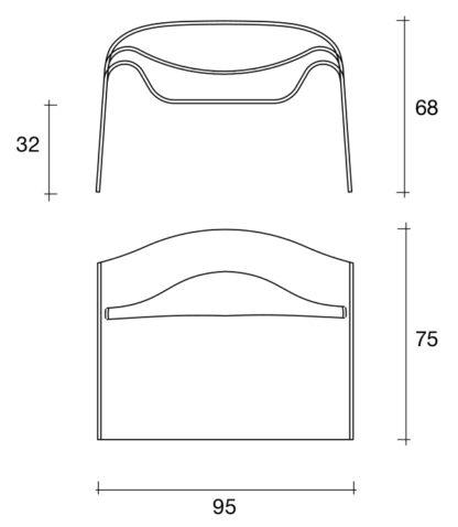1 fiam glazen design stoel Ghost