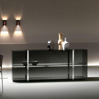 (1) fiam glazen design vitrine milo sideboard design by Ilaria Marelli