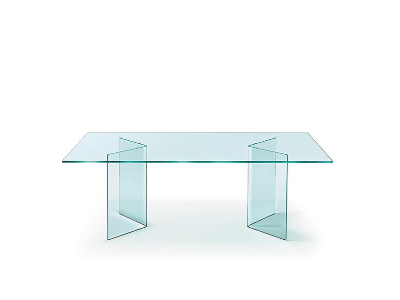 Glazen Eettafels Vierkant.Fiam Glazen Eettafel Corner