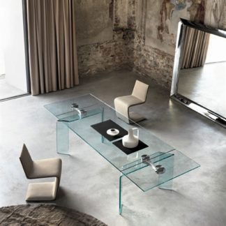 FIAM glazen eettafel Ray Plus design by Bartoli Design