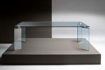 FIAM glazen eettafel Ray helder glas design by Bartoli Design
