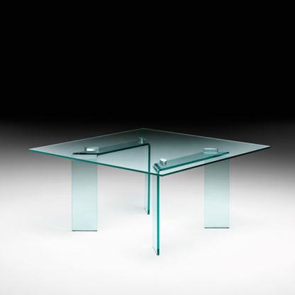 FIAM glazen eettafel Ray vierkant design by Bartoli Design