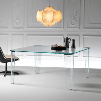 FIAM Glazen eettafel Montefeltro - design by Enzo Mari