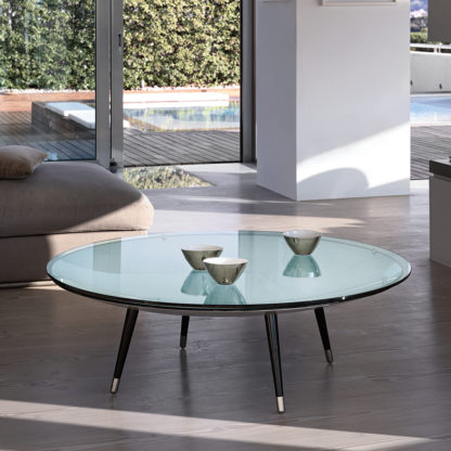 FIAM glazen salontafel Roy helder glas design by Doriana E Massimiliano Fuksas
