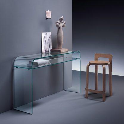 1 fiam glazen side table Elementare design by Enrico Tonucci