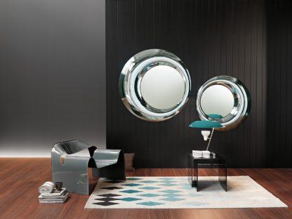 2 FIAM design spiegel Rosy D100 en D130 rond design by Doriana E Massimiliano Fuksas