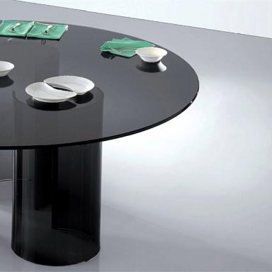 FIAM glazen design tafel Luxor grijs