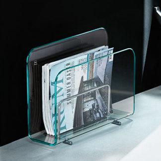 FIAM glazen lectuurbak Vogue design by Roberto Paoli