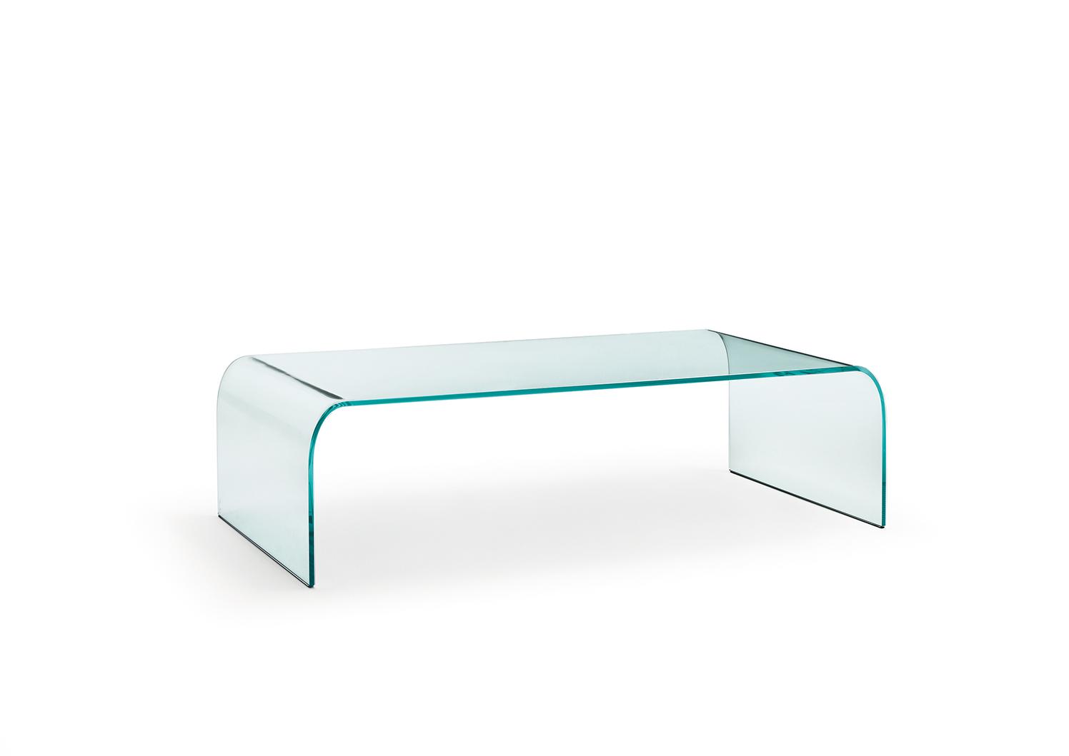 Salontafel Glas Rechthoekig.Fiam Glazen Salontafel Ponte Vierkant