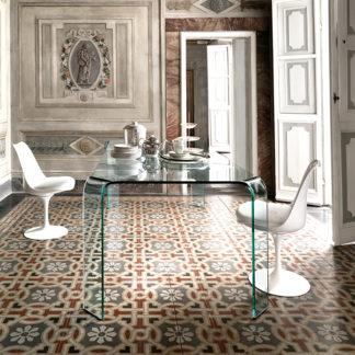 2 fiam design glazen eettafel Ragno 228x108xh75 design by Vittorio Livi