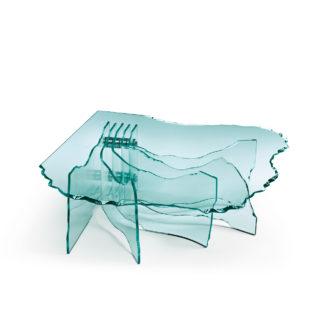 FIAM design glazen salontafel Shell design by Danny Lane