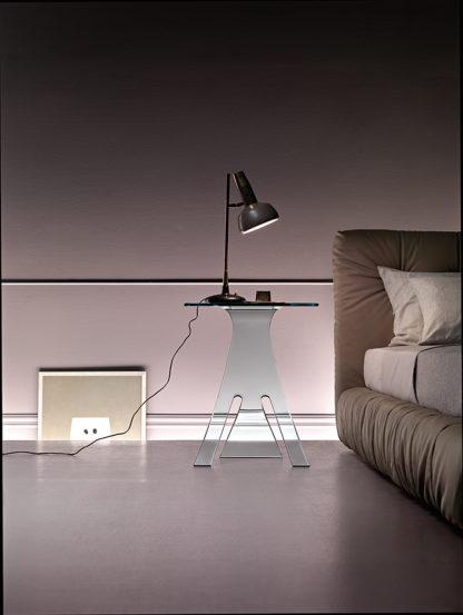 2 fiam glazen bijzettafel Grillo design by Vitorrio Livi technische details