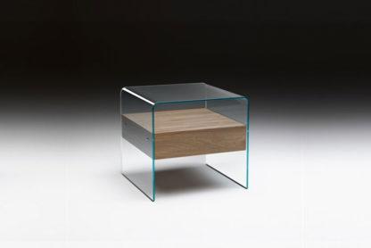 2 fiam glazen bijzettafen nachtkast Rialto Night design by CRS FIAM