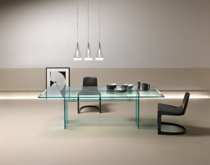 FIAM glazen bureau LLT - design by Dante O. Benini E Luca Gonzo