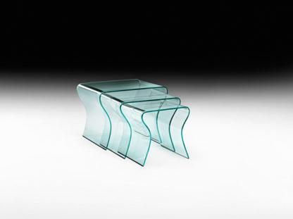 2 fiam glazen design bijzettafel charlotte tris design by Prospero Rasulo