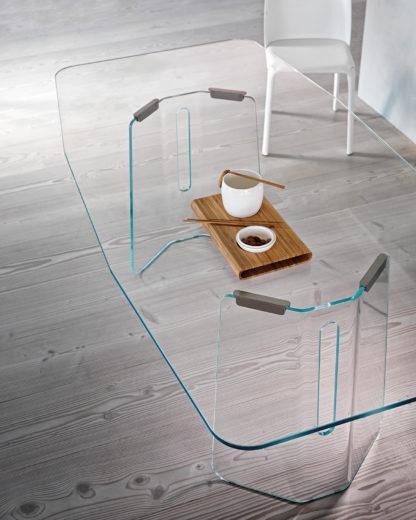 FIAM glazen design eettafel Plie 200x100x75 design by Studio Klass