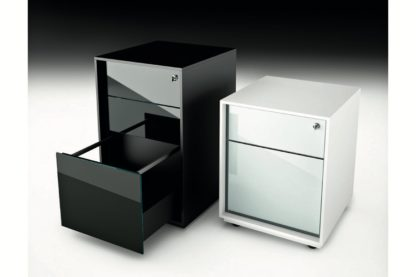 FIAM glazen design ladekast LUMINARE CASSETTIERE design by CRS FIAM - met slot