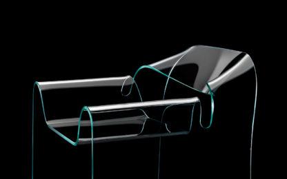 2 fiam glazen design stoel Ghost