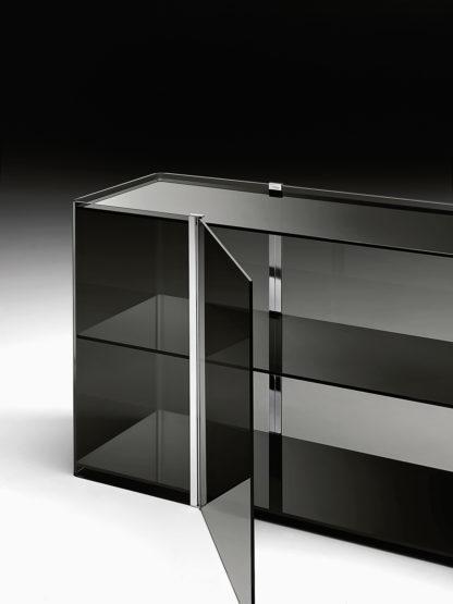 (2) fiam glazen design vitrine milo sideboard design by Ilaria Marelli