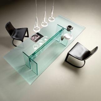 FIAM glazen eettafel LLT 240x100xh72 design by Dante O. Benini E Luca Gonzo