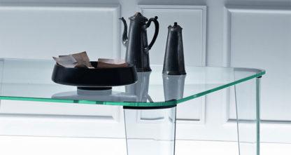 FIAM Glazen eettafel Montefeltro design by Enzo Mari