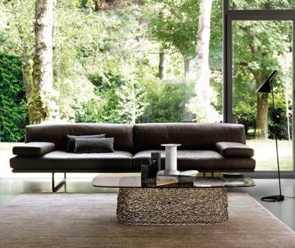 Fiam glazen salontafel Macrame 130x86x33 brons design by Paolo Lucidi E Luca Pevere