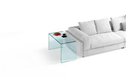 2 fiam glazen side table Rialto side - helder glas by CRS FIAM