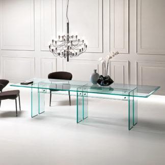 FIAM glazen eettafel LLT 300x100xh72 design by Dante O. Benini E Luca Gonzo