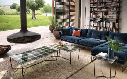 3 FIAM design glazen salontafel Pixel geruit design by Vittorio Livi