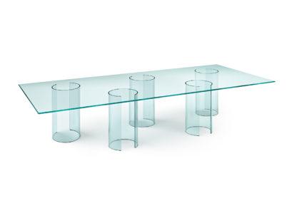 FIAM design glazen eettafel Luxor 240x80xh75 design by Rodolfo Dordoni